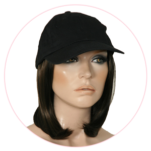 Designed For Comfort Beautifully Blended Hair Is Permanently Attached To A 100 Cotton Baseball Cap Creating Ready Wear Fashion Alternative With